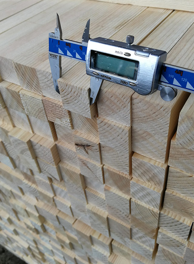 Quality inspection for planed timber